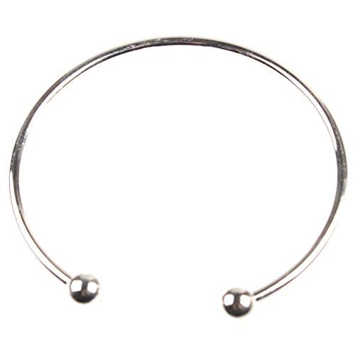 1x Silber überzogene Armband-Armband-Charme-Korn-Fit