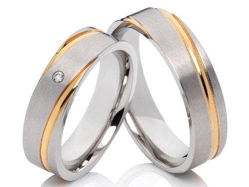 2 Ringe Trauringe Hochzeitsringe Eheringe Verlobungsringe im Set & kostenlose Gravur