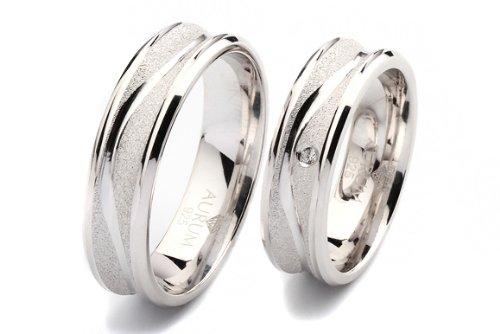 925 Silber Trauringe: Partnerringe Eheringe m. Zirkonia - AJR011