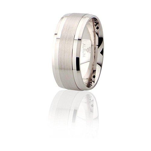 925 Silber Trauringe: Partnerringe, Eheringe und Verlobungsringe - AJR008 , H: 57 mm