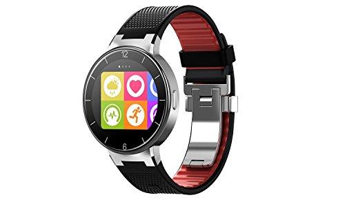 Alcatel Onetouch Watch mit langem Armband schwarz-rot