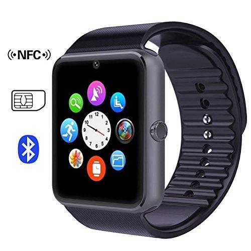 Alisable GT08 Bluetooth Smartwatches Handys mit SIM Karte GSM GPRS für Android Samsung HTC-schwarz