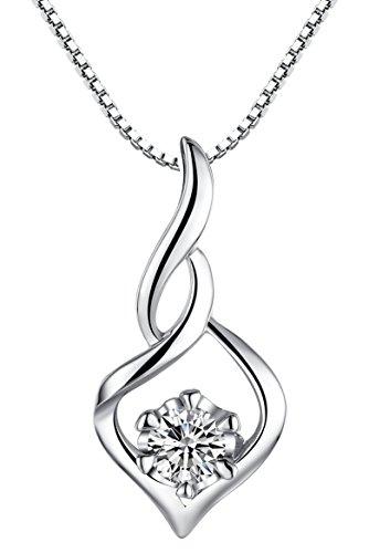 Arco Iris Schmuck Sterling Silber Ewige Polarlicht und Zirkonia Anhänger Halskette für Damen mit Italienisch Kette Box 45cm - SP025n1