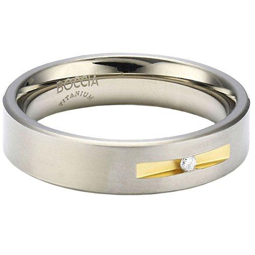 Boccia Damen-Ring Titan Bicolor 1 Brilliant 0,03 ct Gr.54 0101-0854