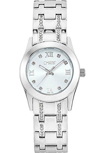CHRIST times Damen-Armbanduhr Analog Quarz One Size, silber, silber
