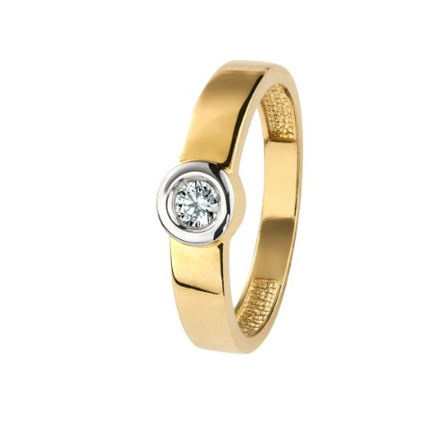 Celesta Damen-Ring 9 Karat (375) Bicolor Zirkonia weiß Gr.60 (19.1) 326370071-2-060
