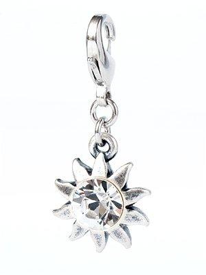 Charms Anhänger 'Sonne' mit original Swarovski Elements Kristall (Crystal)