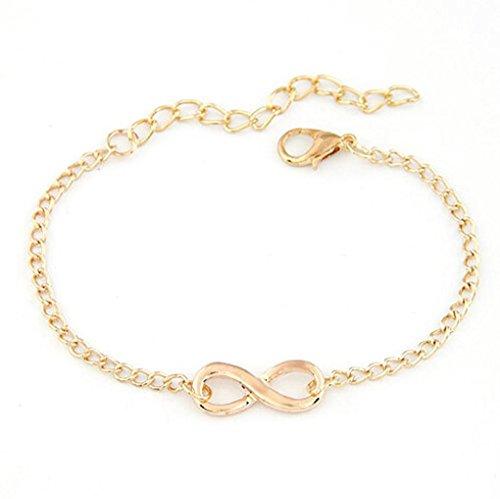 DDLBiz® Geschenk Charm 8-Form-Schmuck Infinity-Armband (Gold)