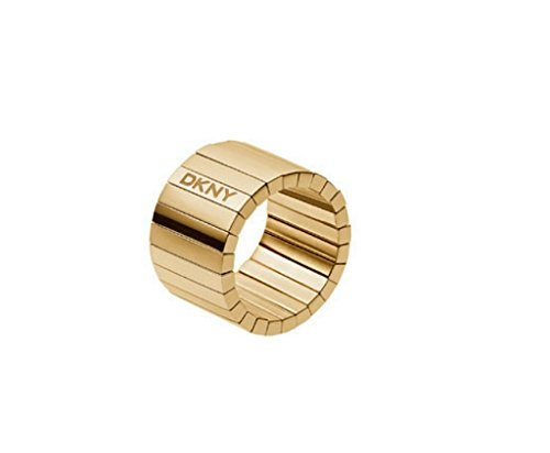 DKNY Damen-Ring Edelstahl Glaskristall gold NJ2143710-5.5