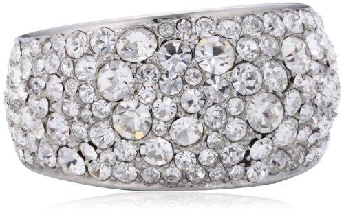 DKNY Damen-Ring Edelstahl Glaskristall schwarz-weiß Gr.50 (15.9) NJ2031040-5.5