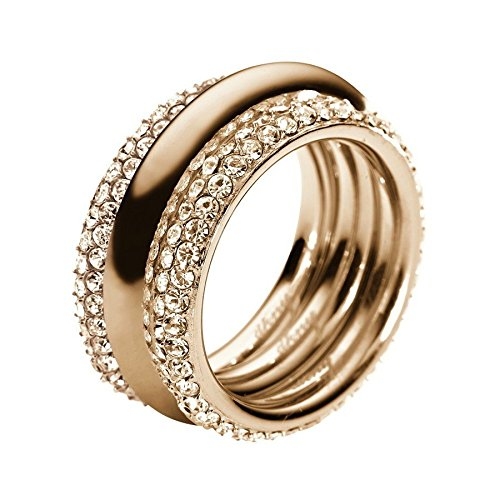 DKNY Damen-Ring Edelstahl Kristall Glaskristall gold NJ1962040-8