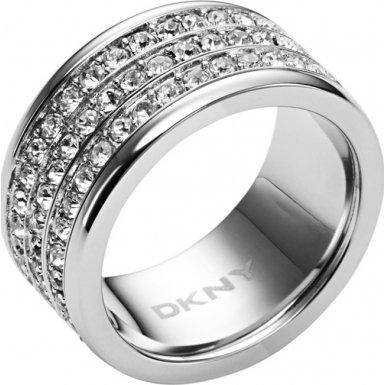 DKNY Damen-Ring Edelstahl Kristall Glaskristall silber NJ1877040-8