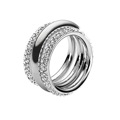 DKNY Damen-Ring Edelstahl Kristall Glaskristall silber NJ1958040-5.5