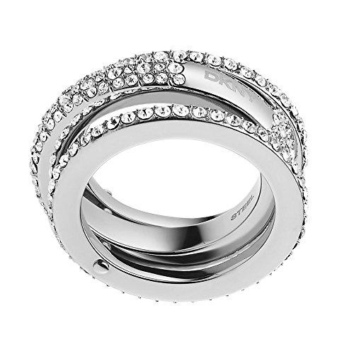 DKNY Damen-Ring Edelstahl Kristall Glaskristall silber NJ2073040-6.5