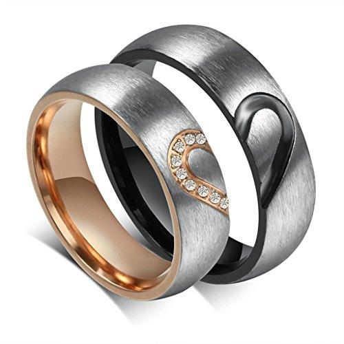 Daesar-Mnner-Verlobungsringe-Edelstahl-Ring-Herz-Puzzle-Ringe-Fr-Paar ...