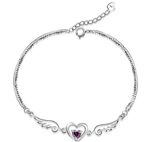 Damen 925 Sterling Silber Engel Liebhaber Liebe Armband Armketten