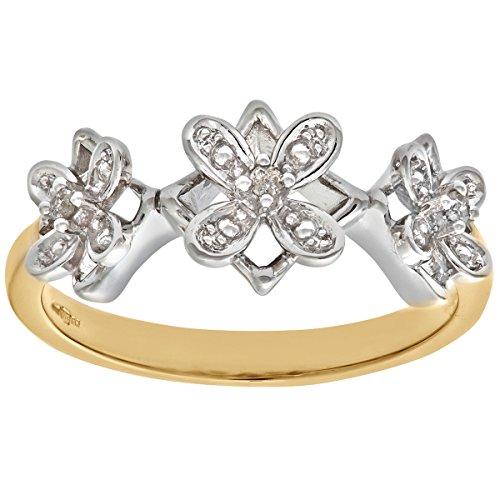 Damen-Ring 9 Karat (375) Bicolor Gr. 52 (16.6)  41 Diamant DR1103RW-K