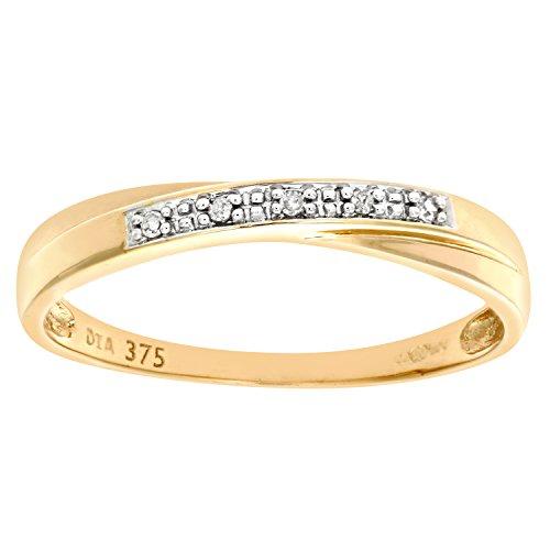 Damen-Ring 9 Karat (375) Bicolor Gr. 53 (16.9)  56 Diamanten DR1118RW-N