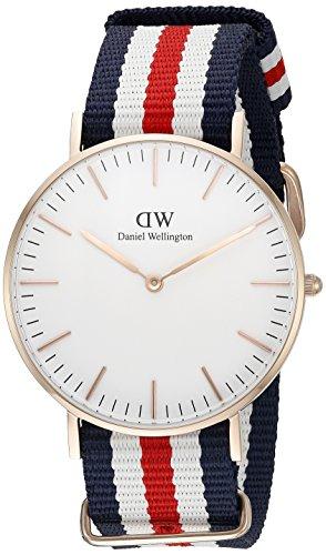 Daniel Wellington Damen-Armbanduhr Canterbury Analog Quarz Nylon 0502DW