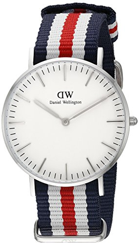 Daniel Wellington Damen-Armbanduhr Canterbury Analog Quarz Nylon 0606DW