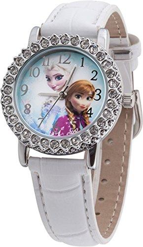 Disney Frozen FROZ5 Armbanduhr, Armband, Polyurethan, Farbe: weiß