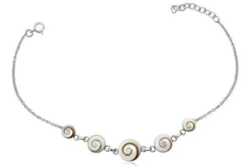 EYS Damen-Armband Shiva-Auge 925 Sterling Silber weiß im Etui Armkette Muschel