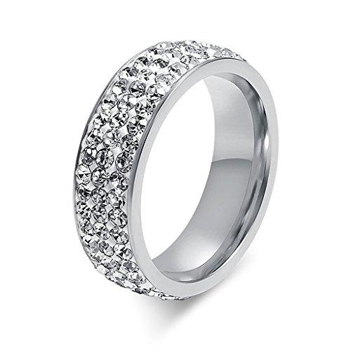 Edelstahl Ringe, Damen Ring Silber Glanz Damenring Elegant Fingerring ...