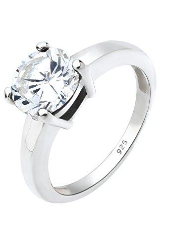 Elli Damen-Ring Klassik 925 Silber Gr.64 (20.4) 06400595_64