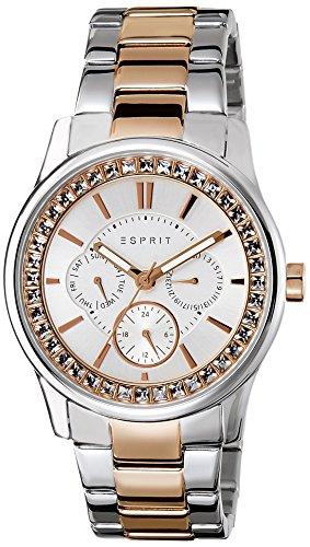 Esprit Damen-Armbanduhr Starlite Analog Quarz Edelstahl ES105442009