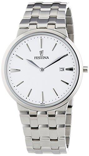 Festina Herren-Armbanduhr XL Analog Quarz Edelstahl F6825/5