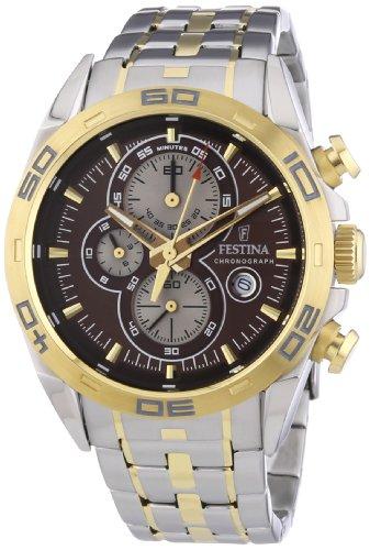 Festina Herren-Armbanduhr XL Analog Quarz Edelstahl beschichtet F16655/4