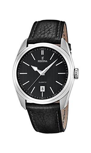 Festina Herren-Armbanduhr XL Analog Quarz Leder F16777/4