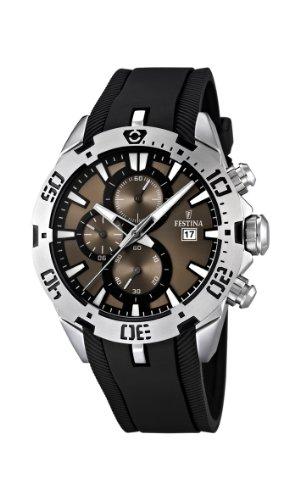 Festina Herren-Armbanduhr XL Analog Quarz Plastik F16672/4