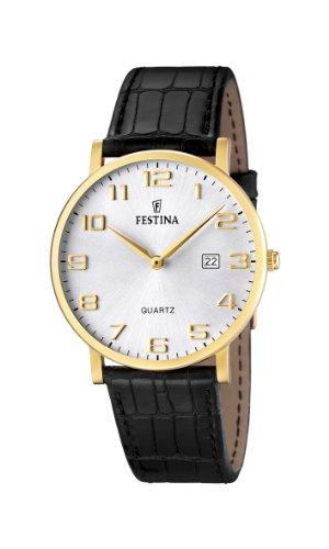 Festina Herren-Armbanduhr XL Klassik Analog Leder F16478/2