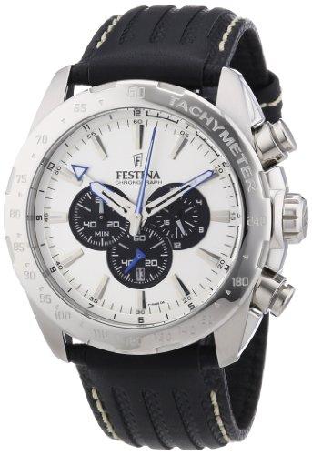 Festina Herren-Armbanduhr XL Sport Chronograph Chronograph Quarz Leder F16489/6