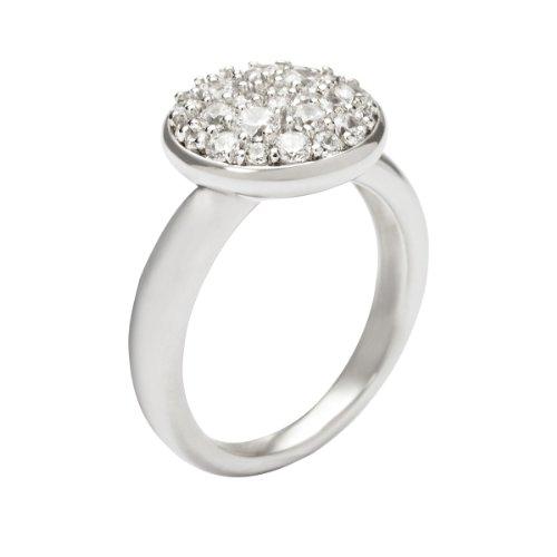 Fossil Damen-Ring 925 Sterling Silber Zirkonia weiß Gr. 56 (17.8) JFS00082040-8