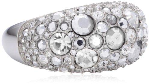 Fossil Damen-Ring Edelstahl Glaskristall weiß Gr.56 (17.8) JF01023040-8