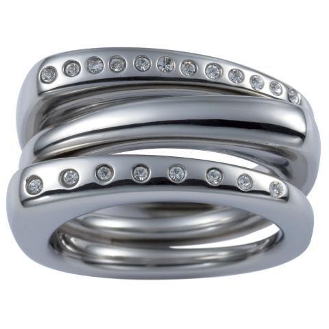 Fossil Damen-Ring Edelstahl Gr.50 (15.9) JF84411040-50