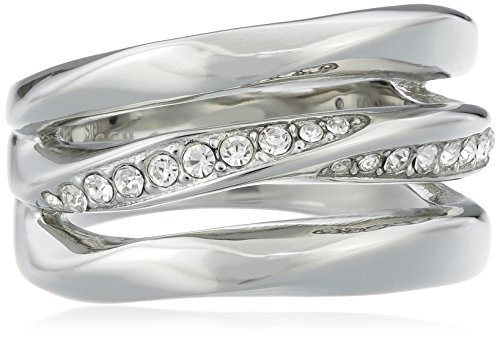 Fossil Damen-Ring Edelstahl Turmaline weiß Gr. 53 (16.9) - JF01147040-6.5