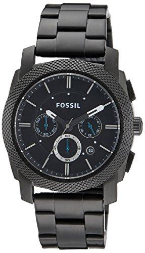 Fossil Herren-Armbanduhr Chronograph Dress FS4552 Black IP