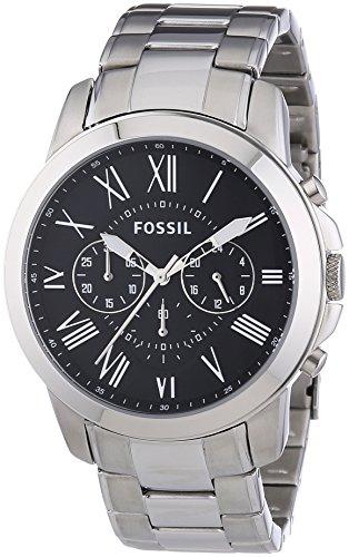 Fossil Herren-Armbanduhr XL Chronograph Edelstahl FS4736