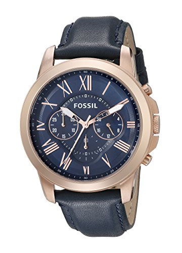 Fossil Herren-Armbanduhr XL Chronograph Quarz Leder FS4835