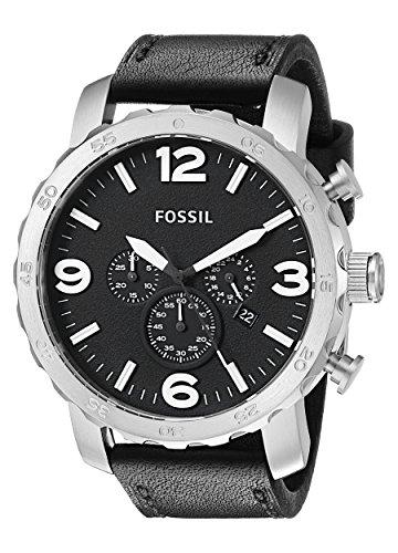 Fossil Herren-Armbanduhr XL Chronograph Quarz Leder JR1436