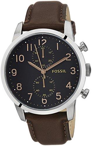 Fossil Herren-Armbanduhr XL Townsman Chronograph Quarz Leder FS4873