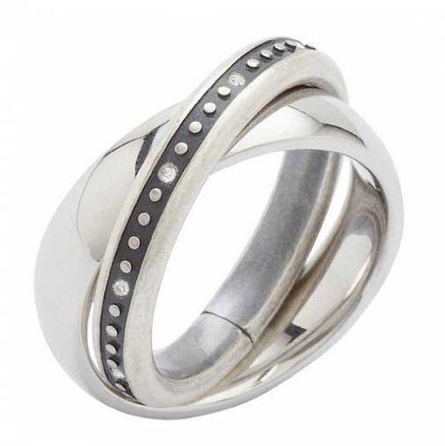 Fossil Jewelry Damen Ring JF84715 Gr. 17/54 Edelstahl NEU 4898