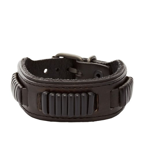 fossil jewelry herren armband leder schwarz ja5754716. Black Bedroom Furniture Sets. Home Design Ideas
