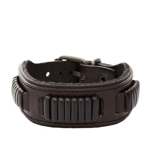 Fossil Jewelry Herren-Armband Leder schwarz JA5754716 ...