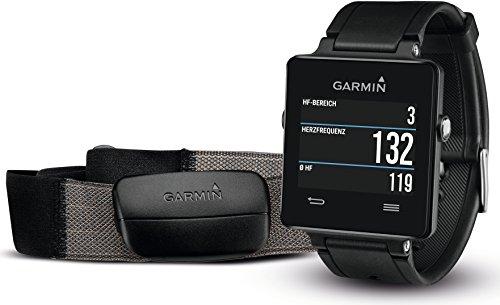 Garmin vívoactive Sport GPS-Smartwatch (3 Wochen Batterielaufzeit, inkl. Herzfrequenz-Brustgurt)