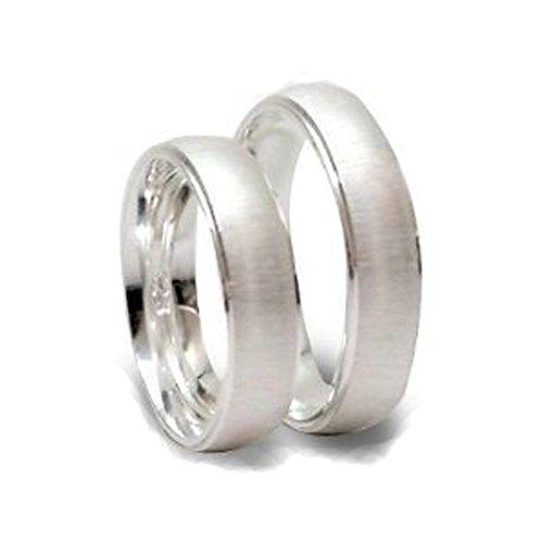 Glanzwelten Set-P-3028 Silberne Trauringe / Partnerringe (Paar) / Freundschaftsringe aus 925er Sterlingsilber