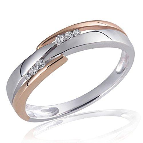 Goldmaid Damen-Ring 925 Sterling Silber weiß Diamanten 6 Diamanten 0,07 ct. Gr. 56 (17.8) Sd R5230S56
